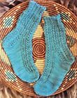LACE CABLE TWIST OF FATE SOCKS to KNIT 3 SIZES FINGERING WT YARN HEARTSTRINGS