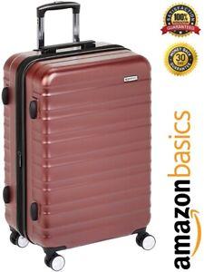 Amazon Basics Premium Hardside Spinner Luggage with Built-In TSA Lock 68cm Red