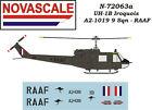 RAAF UH-1B Huey Mini-Set Decals 1/72 Scale N72063a