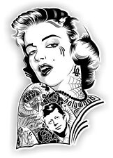 1x  Pin up Girls Vinyl Graphic, Sticker, Decal, Custom, Bike, Car ,Tuning 001