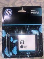 New Genuine HP 61 Black Ink Cartridge Officejet 2620 Envy 4501 4507 Exp 2021