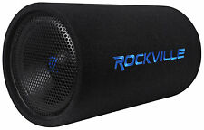 "Rockville RTB12A 12"" 600w Powered Subwoofer Bass Tube + Bass Remote"