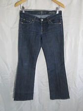 7 for All Mankind Flip Flop Boot cut low rise Dark Wash Denim Jeans 26x30   #18