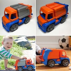 2 x LENA TRUXX Large Refuse Garbage Toy Trucks for Children Toddlers