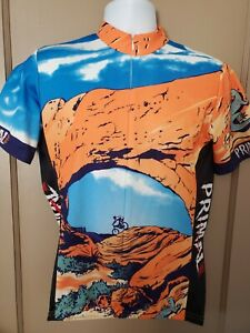 Primal Wear Cycle Jersey Men's M Moab Red Rocks Poly Orange Blue Desert Bike