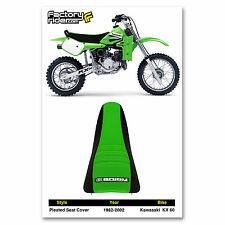 1982-2002 KAWASAKI KX 60 Black/Green PLEATED SEAT COVER MADE BY Enjoy MFG