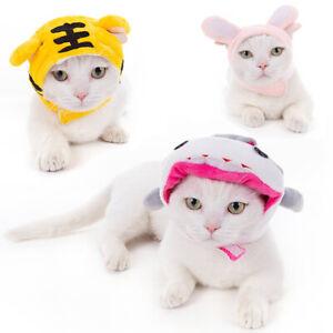 Cartoon Pet Dog Cat Hat for Halloween Parties Christmas Costumes Headwear Gift