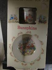 Royal Doulton Bunnykins 2Pc Infant Set Cereal Bowl & Mug Mib