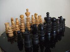Antique retro vintage decorative ornamental chess pieces by john Jaques & sons