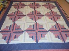 Nice Printed Cloth Log Cabin Pattern Quilt