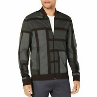 ALFANI Men's Black Full Zip Sonar Knit Bomber Jacket  - Pick Size - NWT