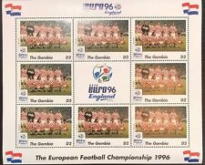 Gambia '96 Euro England Football Championship Stamp- Croatia Sheetlet of 9
