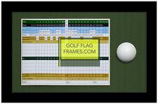 8x13 Golf Scorecard & Ball Frame; Black w/Green Mat; Holds approx 6x8 card