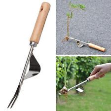 Am_ Stainless Garden tool hand weeder Farmland Transplant Lawn Seeding Remover P