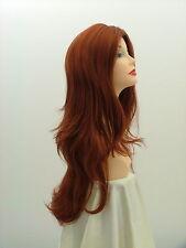 """Super Long Wig Show Girl  No Bangs    Fox Red  31""""   SN14"""