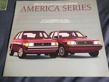 1989 Plymouth Reliant K Car Horizon America Series Color Brochure  Prospekt