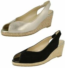 Van Dal Wedge Peep Toes 100% Leather Heels for Women