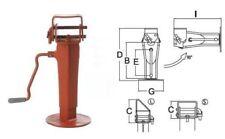 Simol Stützfuß mechanisch 6000 kg. Stützlast mit klappbarem Befestigungsteil