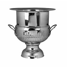 NEW WINE COOLER ASCOT 14.5 INCH H BRASS NICKEL PLATE SILVER COLOUR