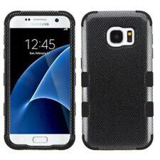 Étuis, housses et coques noirs Samsung Galaxy S7 en fibre de carbone pour téléphone mobile et assistant personnel (PDA)