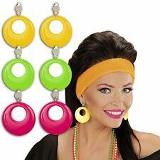 Neon earrings stud earring 80s pink pink eighties fashion jewellery 1980s jewelr
