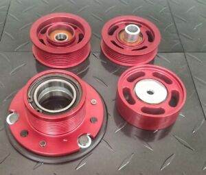 Red 77mm supercharger pulley AMG mercedes M113K E55,CLS55,S55, CL55,G55,
