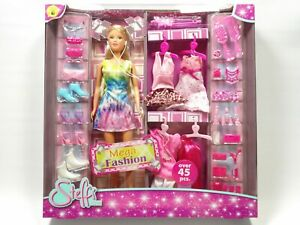 Steffi Love Mega Fashion Doll, Pink, Over 45 Pcs, Great For Xmas Gift Uk