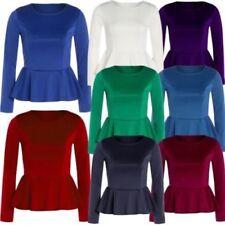 Taillenlange Damenblusen, - tops & -shirts aus Polyester-Rüschen