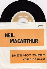 "NEIL MACARTHUR SHE'S NOT THERE UNIQUE 1969 VINYL RECORD YUGOSLAVIA 7"" PS ERROR"