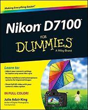 Nikon D7100 For Dummies NEW BOOK