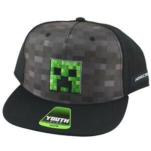 Minecraft Creeper Boys Baseball Cap Hat Youth Size OSFM