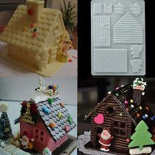 3D Christmas House Fondant Chocolate Mould Decor Cake Cutter Plastic Mold 1pc