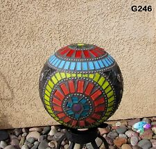 New listing Gazing Ball Sphere Handmade Mosaic Look beautiful in in your back yard G246