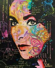 Dean Russo Art Original Artwork on Stretched Canvas Liz Taylor Portrait Art