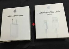 Original APPLE 5V 1A EU Wall Charger+ Lightning USB Data Cable for iphone X 8 7