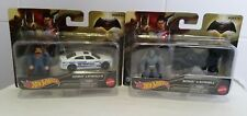 HOT WHEELS BATMAN VS SUPERMAN die cast cars plus figures brand new and sealed