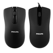 Philips Wireless Wired Mouse for PC Laptop Computer Desktop Scroll Wheel US