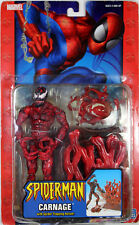 Spider-Man Classics ~ CARNAGE w/TRAP ACTION FIGURE ~ Marvel Legends Style