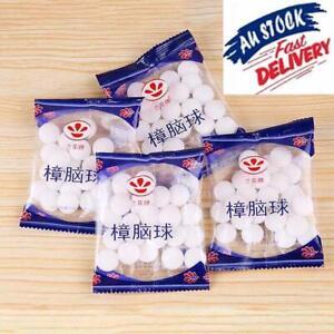 20 Packs Natural Mothballs Anti-mold Moth Repellent Camphor Ball Pest Cont 2K0