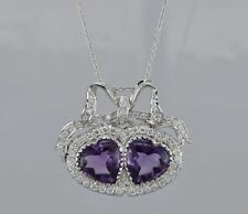18 Carat Amethyst White Gold Vintage Fine Jewellery
