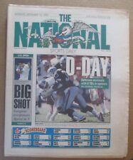 THE NATIONAL SPORTS DAILY NEWSPAPER LA RAIDERS PETE SAMPRAS WINS US OPEN 1990