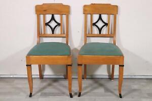 Paar Stühle Biedermeier Kirsche Vollholz (ML9576)