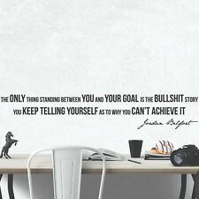 Jordan Belfort Inspirational Wall Decals Motivational Wall Art Quote Home Decor