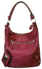 Balenciaga Giant Day Grenat Red Leather Shoulder Hobo Hand Bag Authentic $1495