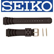 SEIKO Original SNM037P 20mm Black Watch band Strap Z-20 4K30ZZ