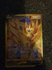 Zamazenta V Gold Secret Rare. 212/202. Mint Condition.