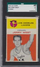 1961 Fleer # 43 Jerry West Rookie  SGC 40