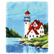 Lighthouse Latch Hook Kit  Rug Making Kit by Vervaco 43x54cm Inc Tool