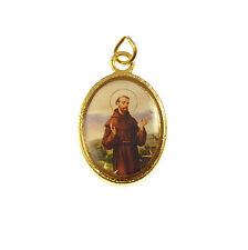St. Francis rosary beads medal pendant gold tone Catholic