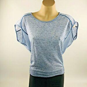 Lorna Jane Womens Singlet T Shirt Top Running Yoga Gym Activewear XS 6 8 AU Blue
